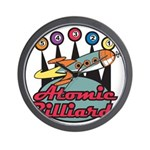 Retro Atomic Billiards Pool H Wall Clock