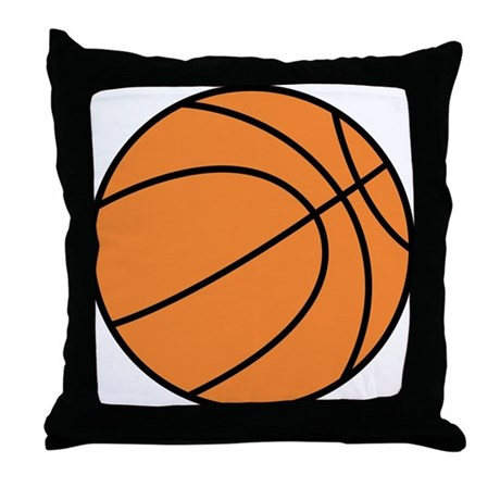 Basketball Belly Throw Pillow