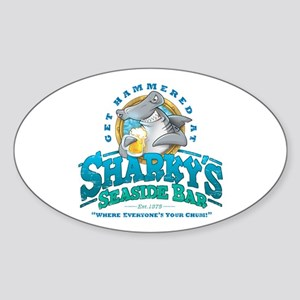 Sharky's Seaside Bar Sticker (Oval)