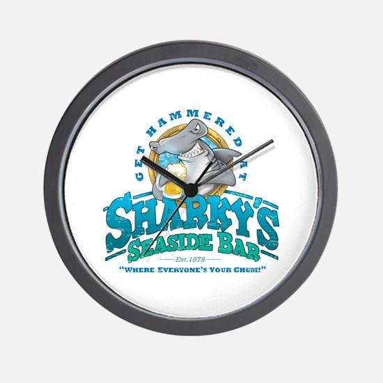 Sharky's Seaside Bar Wall Clock