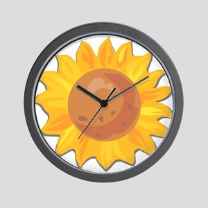 Sunflower Belly Wall Clock