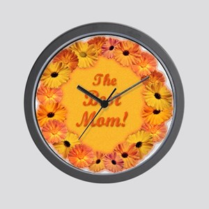 Best Mom Sunflower Design Wall Clock