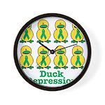 Depression Awareness Ribbon D Wall Clock