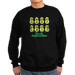 Depression Awareness Ribbon D Sweatshirt (dark)