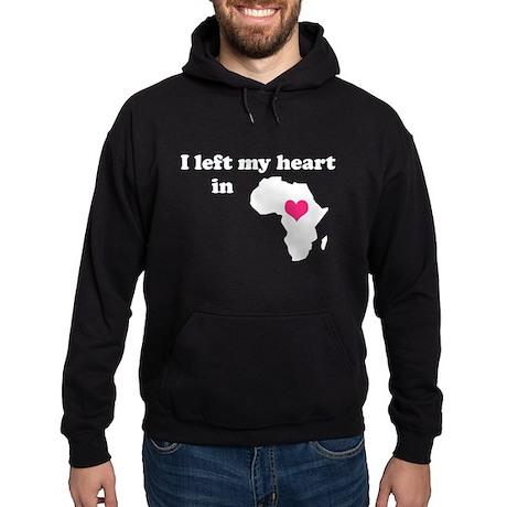 I Left My Heart in Africa Hoodie (dark)