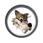 Funny Wolf Face Wall Clock