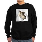 Funny Wolf Face Sweatshirt (dark)