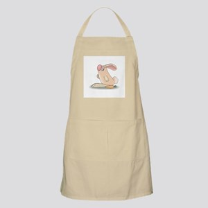 Cute Pink Bunny and Carrot Apron