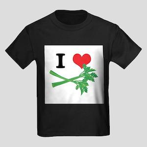 I Heart (Love) Celery Kids Dark T-Shirt