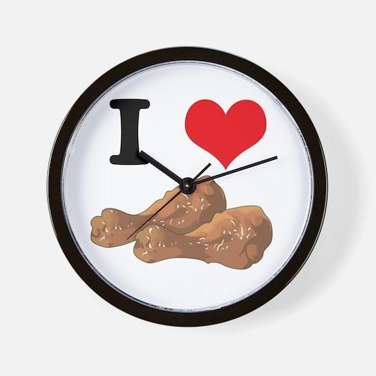 I Heart (Love) Chicken (Drums Wall Clock