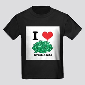 I Heart (Love) Green Beans Kids Dark T-Shirt