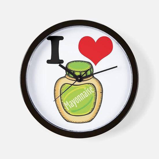 I Heart (Love) Mayonnaise (Ma Wall Clock