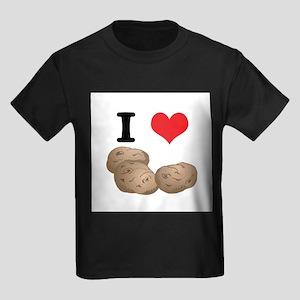 I Heart (Love) Potatoes Kids Dark T-Shirt