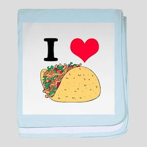 I Heart (Love) Tacos Infant Blanket