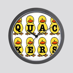 Quackers Ducks Wall Clock