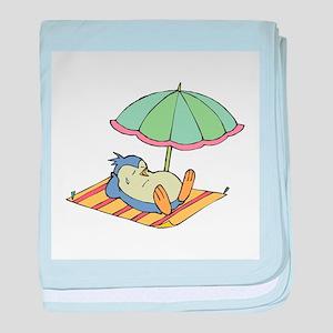 Penguin in the Sun Infant Blanket