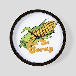 Me So Corny Wall Clock