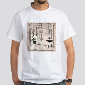 Frida's Monkey Leonardo White T-Shirt