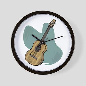 Acoustic Guitar Design Wall Clock