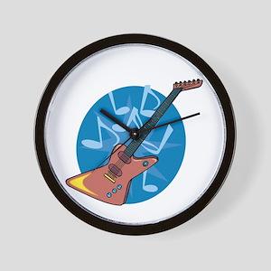 Funky Electric Guitar Wall Clock