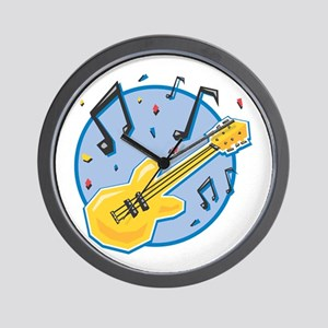 Guitar and Music Notes Design Wall Clock