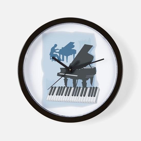 Pianist Design Wall Clock
