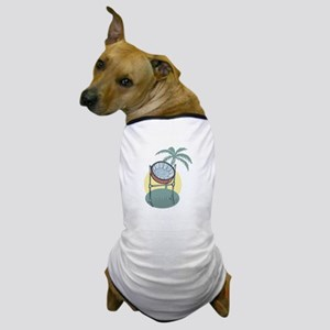 Steel Drum and Palm Tree Dog T-Shirt