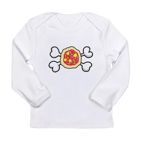 Funny Pizza & Crossbones Desi Long Sleeve Infa