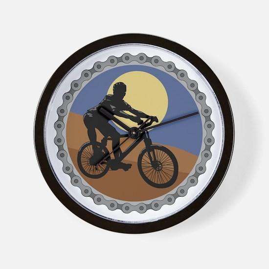 Mountain Bike Chain Design Wall Clock