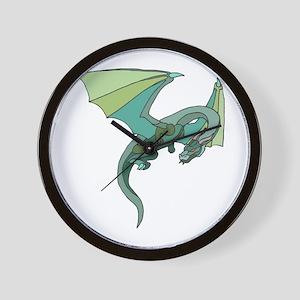 Cool Flying Green Dragon Wall Clock