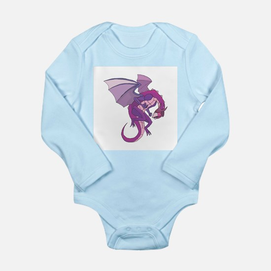 Purple Mystic Dragon Long Sleeve Infant Bodysuit