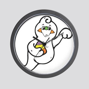 Cute Candy Corn Ghost Wall Clock