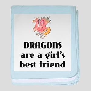 Dragon Girl Infant Blanket