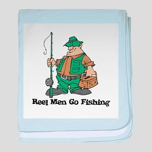 Reel Men Go Fishing Infant Blanket