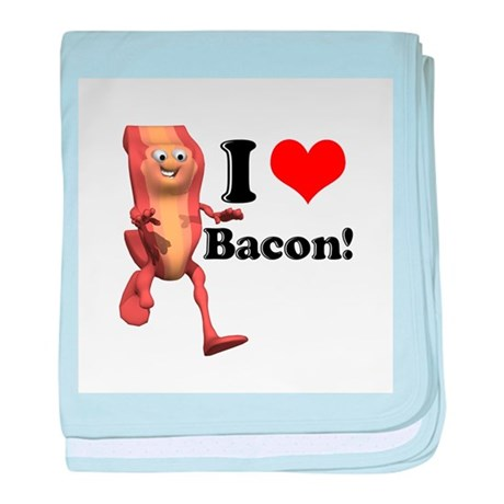 I Heart (Love) Bacon Infant Blanket
