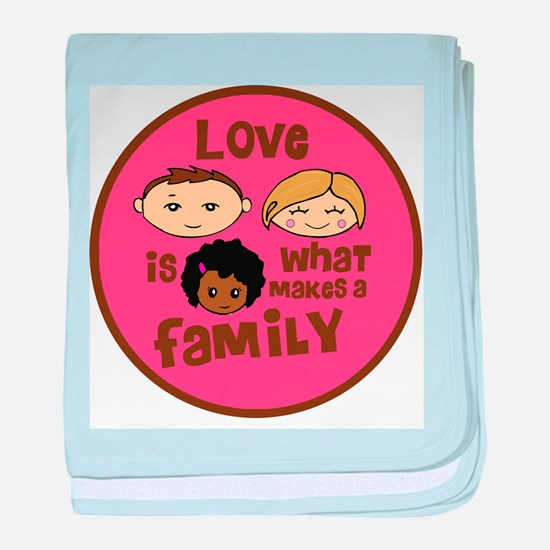 African/Caucasian GIRL Love Makes A Family Infant