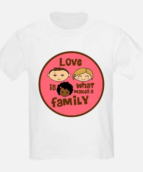 African/Caucasian GIRL Love Makes A Family T-Shirt