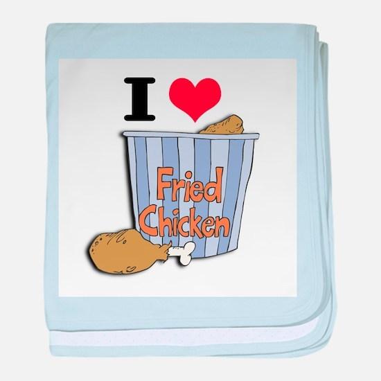I Heart (Love) Fried Chicken Infant Blanket