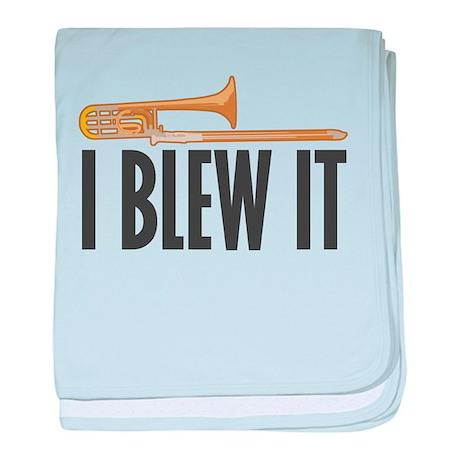 I Blew It Trombone Infant Blanket