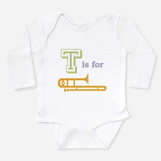 Tis for Trombone Long Sleeve Infant Bodysuit