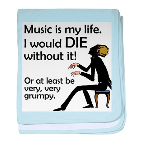 Music Is My Life Infant Blanket