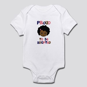 Proud to be Adopted African girl Infant Bodysuit