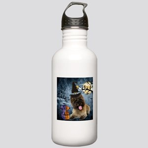 Cairn Terrier Witch Stainless Water Bottle 1.0L