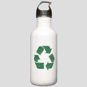 Vintage Green Recycle Sign Stainless Water Bottle