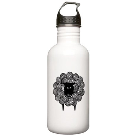 Black Faced Yarn Sheep Stainless Water Bottle 1.0L