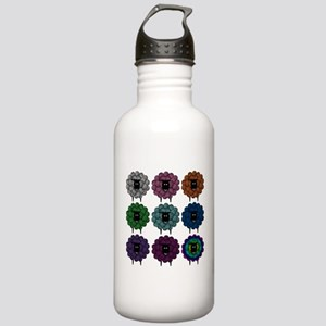 A Rainbow of Sheep Stainless Water Bottle 1.0L