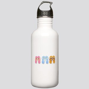 3 Pairs of Flip-Flops Stainless Water Bottle 1.0L