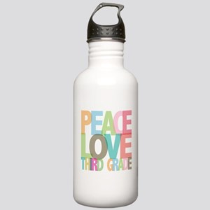 Peace Love Third Grade Stainless Water Bottle 1.0L