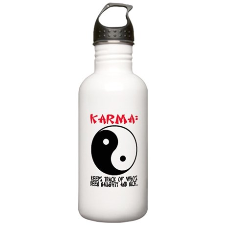 KARMA - Keeps track.. Stainless Water Bottle 1.0L