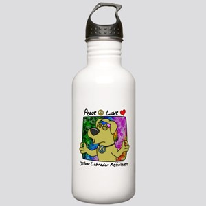 Peace Love Yellow Lab Stainless Water Bottle 1.0L